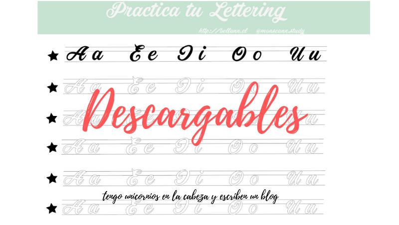 DESCARGA Lettering para practicar